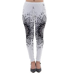 Mandala Misic Lightweight Velour Leggings