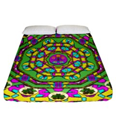 Cool Colors To Love And Cherish Fitted Sheet (california King Size) by pepitasart