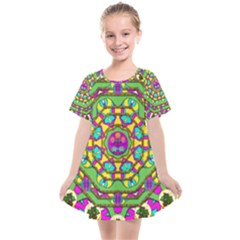 Cool Colors To Love And Cherish Kids  Smock Dress