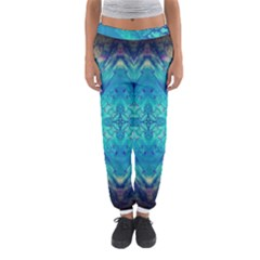 Boho Hippie Tie Dye Retro Seventies Blue Violet Women s Jogger Sweatpants by CrypticFragmentsDesign