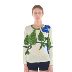 Morning Glory Women s Long Sleeve Tee by lwdstudio