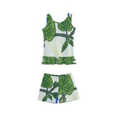 Morning Glory Kid s Boyleg Swimsuit