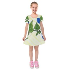 Morning Glory Kids  Short Sleeve Velvet Dress