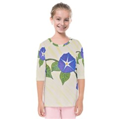 Morning Glory Kids  Quarter Sleeve Raglan Tee