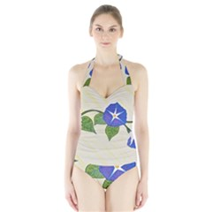 Morning Glory Halter Swimsuit by lwdstudio