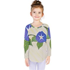 Morning Glory Kids  Long Sleeve Tee