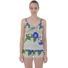 Morning Glory Tie Front Two Piece Tankini