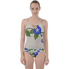 Morning Glory Cut Out Top Tankini Set