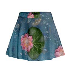 Water Lillies Mini Flare Skirt