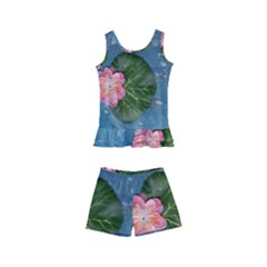 Water Lillies Kid s Boyleg Swimsuit
