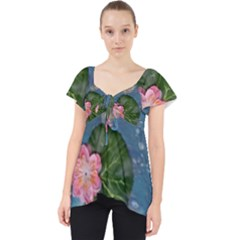 Water Lillies Lace Front Dolly Top