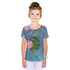 Water Lillies Kids  One Piece Tee
