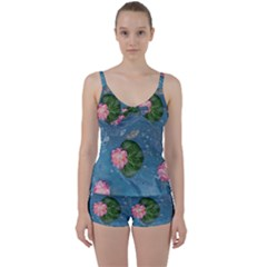 Water Lillies Tie Front Two Piece Tankini