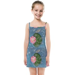 Water Lillies Kids Summer Sun Dress