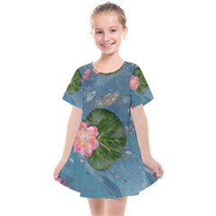 Water Lillies Kids  Smock Dress