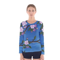 Cherry Blossoms Women s Long Sleeve Tee