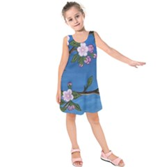 Cherry Blossoms Kids  Sleeveless Dress