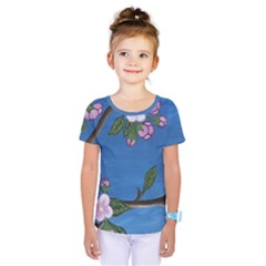 Cherry Blossoms Kids  One Piece Tee