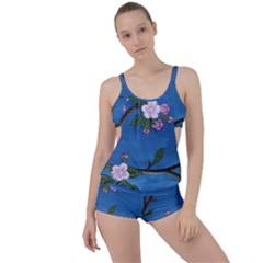 Cherry Blossoms Boyleg Tankini Set