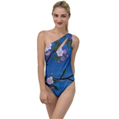 Cherry Blossoms To One Side Swimsuit