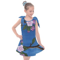 Cherry Blossoms Kids  Tie Up Tunic Dress