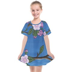 Cherry Blossoms Kids  Smock Dress