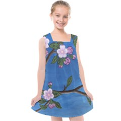 Cherry Blossoms Kids  Cross Back Dress