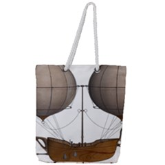 Air Ship 1300078 1280 Full Print Rope Handle Tote (large) by vintage2030