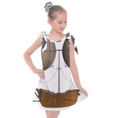 Air Ship 1300078 1280 Kids  Tie Up Tunic Dress by vintage2030