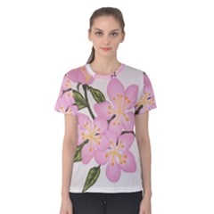 Pink Flowers Women s Cotton Tee