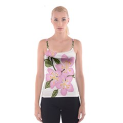 Pink Flowers Spaghetti Strap Top