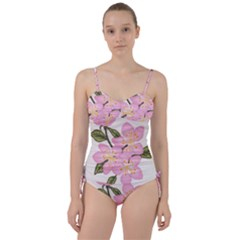 Pink Flowers Sweetheart Tankini Set