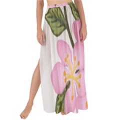 Pink Flowers Maxi Chiffon Tie Up Sarong