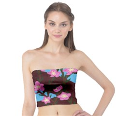 Cherry Blossom Branches Tube Top