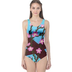 Cherry Blossom Branches One Piece Swimsuit