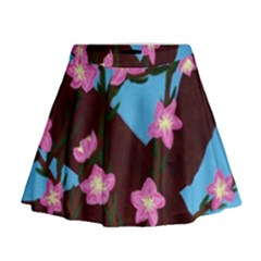 Cherry Blossom Branches Mini Flare Skirt