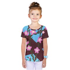 Cherry Blossom Branches Kids  One Piece Tee