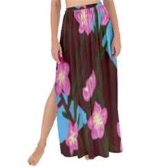 Cherry Blossom Branches Maxi Chiffon Tie Up Sarong