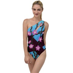 Cherry Blossom Branches To One Side Swimsuit