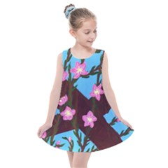 Cherry Blossom Branches Kids  Summer Dress