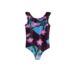 Cherry Blossom Branches Kids  Frill Swimsuit