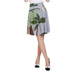 Lunar Moths A Line Skirt