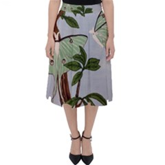 Lunar Moths Folding Skater Skirt