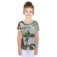 Lunar Moths Kids  One Piece Tee