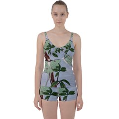 Lunar Moths Tie Front Two Piece Tankini
