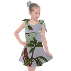 Lunar Moths Kids  Tie Up Tunic Dress