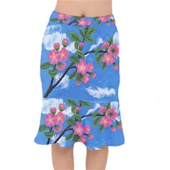 Cherry Blossoms Mermaid Skirt