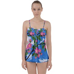 Cherry Blossoms Babydoll Tankini Set