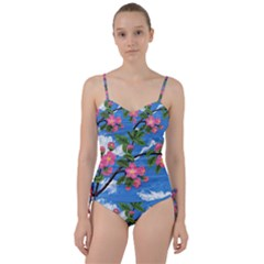Cherry Blossoms Sweetheart Tankini Set