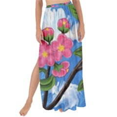 Cherry Blossoms Maxi Chiffon Tie Up Sarong
